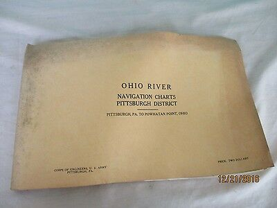 1961 Ohio River Navigational Maps Pittsburg District Pitts. to Powhatan point