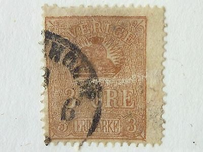 SWEDEN  -  SG  12c  1862  3ore BROWN  USED