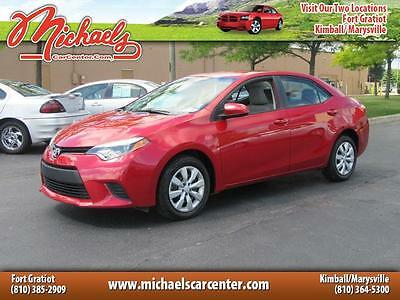 2014 Toyota Corolla  Red, Like New