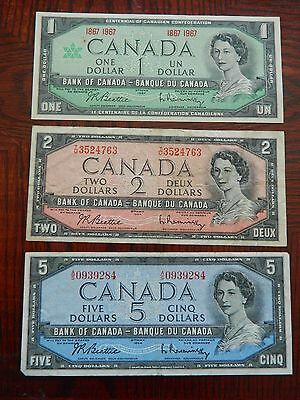Mixed Lot $7 Face Value Of Canadian Notes  1802