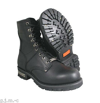 Xelement 1446 9 10.5 Vigilant ClassicLogger Zipper Heavy Leather Motorcycle Boot