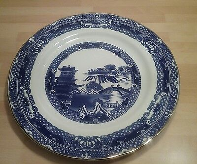 Wade Willow Pattern Ringtons Dinner Plates X5