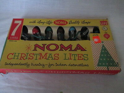 Vintage Noma Christmas Lights 7 Light Set WORKS *