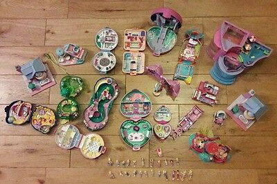 MASSIVE BUNDLE of POLLY POCKET TOYS  COMPACT CASES  FIGURES  vintage 1980 90