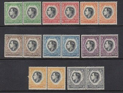 Great Group KGVI SW Africa Unused Paired Stamps