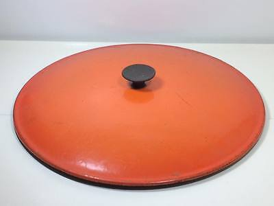 Vintage flame ware  Le Creuset cast iron 13 inch diameter lid #31 made in France