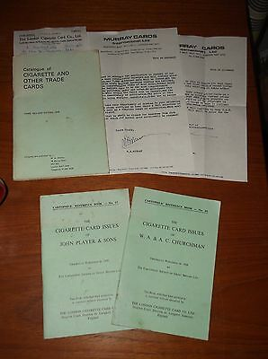 Cartophilic Reference Books cigarette cards Player / Churchman  / Murray