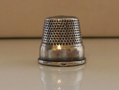Rare 830 Silver Thimble, Various Makers Marks to Inside