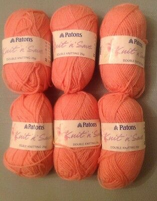 Patons  Knit 'n' save. 6x25g Pink DOUBLE KNIT