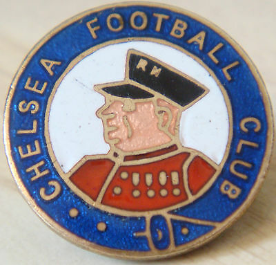 CHELSEA FC Very rare vintage club crest type badge Brooch pin In gilt 25mm Dia
