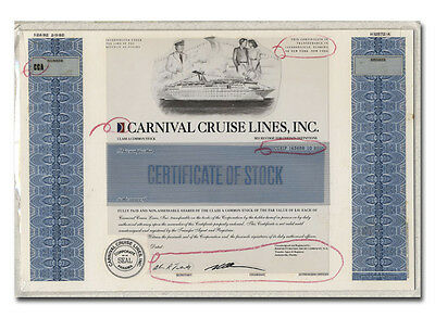Carnival Cruise Lines, Inc. Production Folio - American Bank Note Archives
