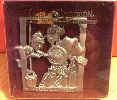 Harley Davidson 1991 Fourth Issue Pewter Christmas Ornament