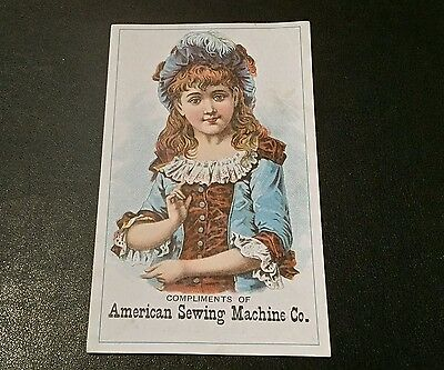 Victorian Trade Card American Sewing Machine Co
