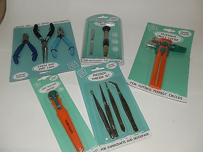 assorted lot of craft tools