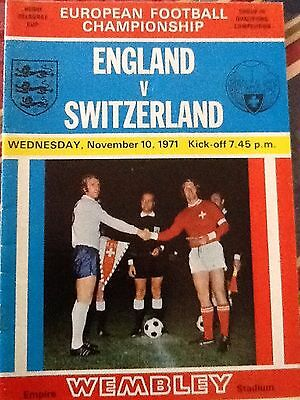 1971  England v Switzerland  (Euros)