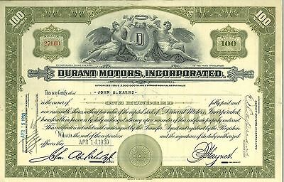 Durant Motors Inc   1930 Delaware old stock certificate share