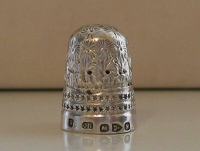 Charles Horner Solid Silver Antique Thimble, Hallmarked Chester 1895