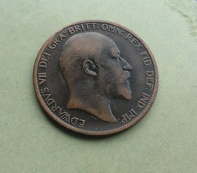 Edward VII Penny 1903, Good Condition