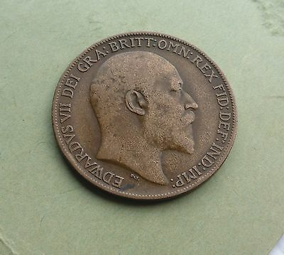 Edward VII Penny 1909, Good Condition