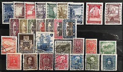 30 Austria Stamps Used