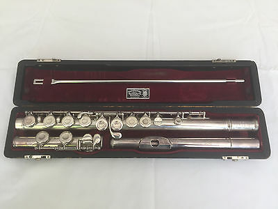 Wm. S. Haynes Solid Silver Flute with case