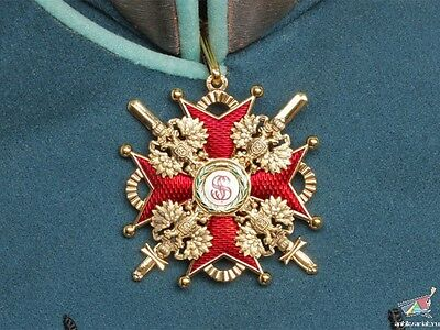 Order Of St. Stanislaus Cross With Swords 2 Class On Neck, Russia, Replica