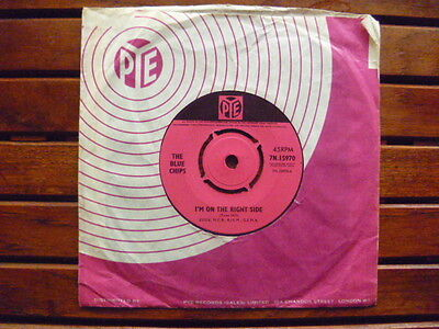 THE BLUE CHIPS 'I'm On The Right Side/You're Good To Me' 1965 PYE 7N.15970 EX-
