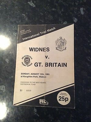 Widnes V Great Britain 15.08.1982 Mick Adams Testimonial Game