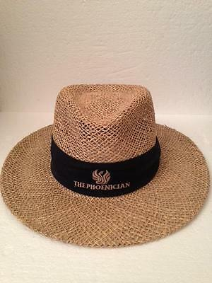 THE PHOENICIAN HOTEL Men's Souvenir Straw Panama Hat/Fedora Made in USA One Size