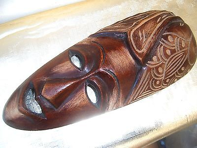Woodcarved Mask Wall Hanging.  Ethnic origin.
