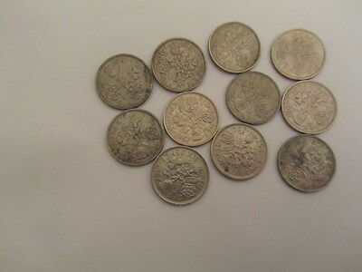 QUEEN ELIZABETH 11 1967 11 LUCKY SIXPENCES  50th BIRTHDAY  ANNIVERSARY GIFT
