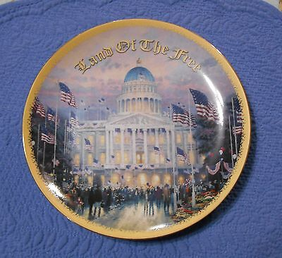 Flags Over the Capitol Plate Thomas Kinkade God Bless America Collection Plate