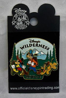 2005 Disney's Wilderness Lodge Trading Pin - Mickey, Goofy and Pluto Hiking