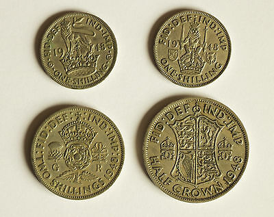Four George VI coins dated 1948