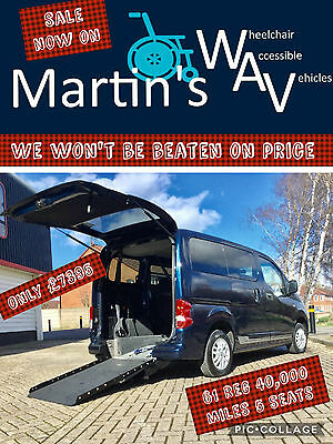 Nissan Nv 200 Se 1.5 Dci Wheelchair Accessible Disabled Adapted Wav