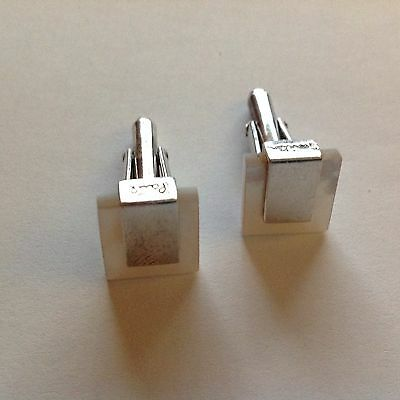 Paul smith sterling silver mother of pearls cuff links
