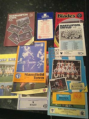 18 X Wigan Athletic Aways From 1981 To 1983