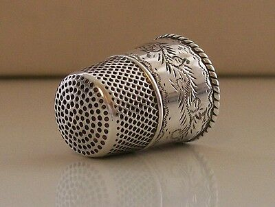 Stunning Portuguese 925 Sterling Silver Thimble (Lisbon Assay Mark)