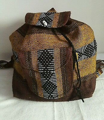 PINZON textile backpack authentic made by artisans in Puebla Mexico