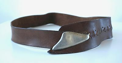 Vintage Brown Leather Belt Women's One Size