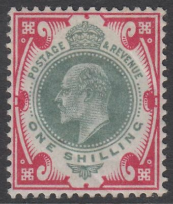 GB KEVII 1s. Dull Green & Scarlet One Shilling Edward VII Unused 1/- Stamp