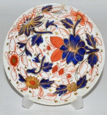 stunning derby / SPODE 18th 19th c porcelain  imari plate dish painted flowers