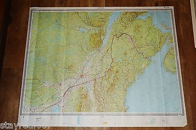 Authentic Soviet USSR SECRET Topographic Map OTTAWA, MONTREAL, CANADA - USA
