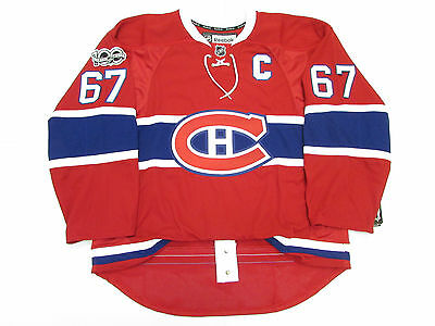 PACIORETTY MONTREAL CANADIENS HOME 100th ANNIVERSARY REEBOK EDGE 2.0 7287 JERSEY
