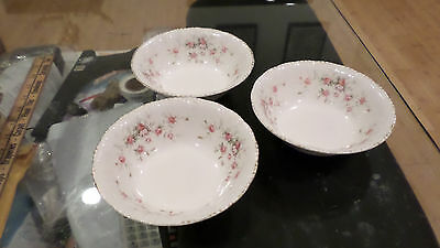 Set Of 3 Paragon Victoriana Rose Bowls By Appointment To H.M The Queen