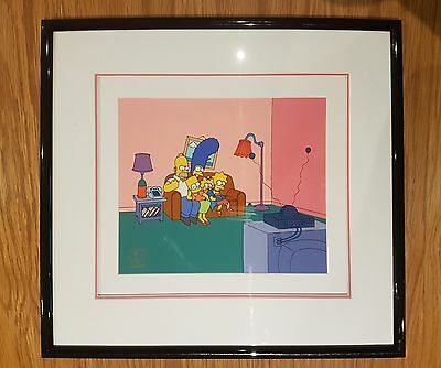 Simpsons 100th Episode Limited Edition Serigraph Cel. Bart-O-Lounger.