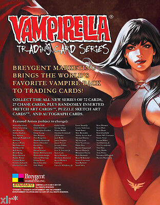 Vampirella Official Sealed Case Of Trading Cards Containing 15 Boxes Of Cards