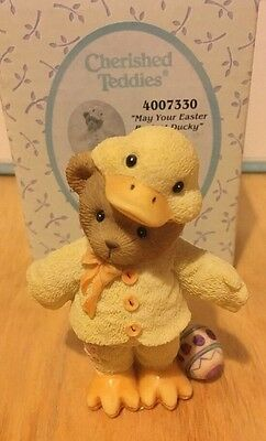 """Rare & Retired Cherished Teddies - """"Brendan"""" - May Your Easter Be Just Ducky."""