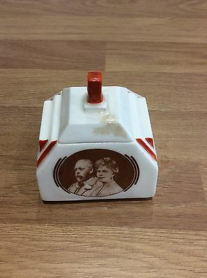 King George and Queen Mary Silver jubilee trinket box