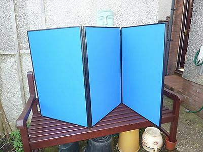 Portable lightweight 3 panel  folding display board with cover.